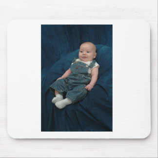 Joshua in overalls mouse pad