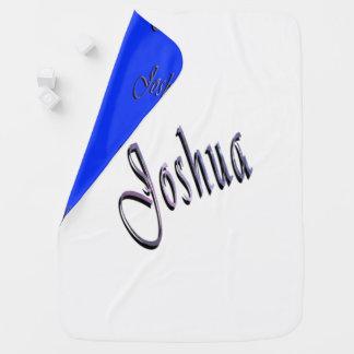 Joshua, Name, Logo, Desk, Reversible Baby Blanket. Baby Blanket