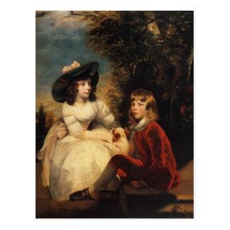 Joshua Reynolds-Children of John Julius Angerstein Postcard