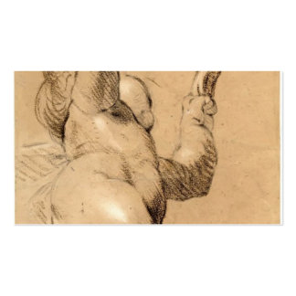 Joshua Reynolds:Sketch of Putto Holding a Sash Business Card Templates