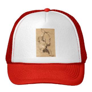 Joshua Reynolds:Sketch of Putto Holding a Sash Mesh Hat