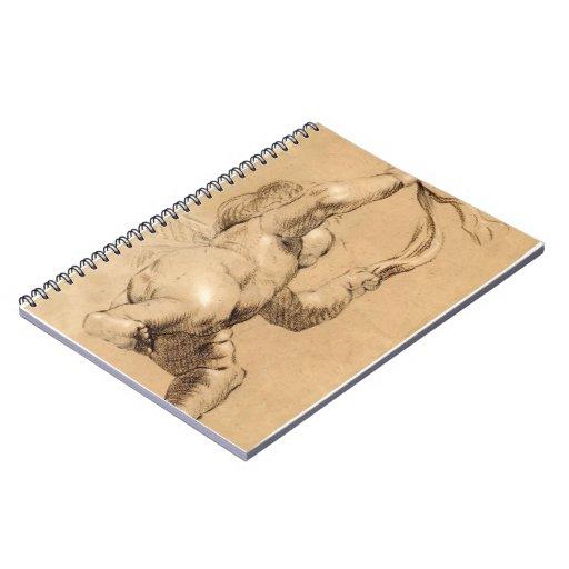 Joshua Reynolds:Sketch of Putto Holding a Sash Journal