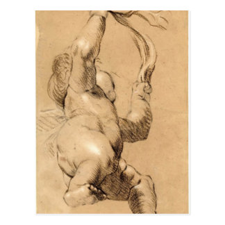 Joshua Reynolds Sketch of Putto Holding a Sash Postcards