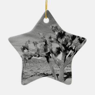 Joshua Tree (black & white) Ceramic Ornament