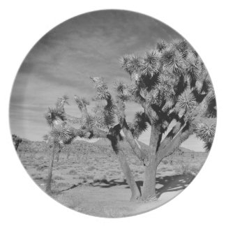 Joshua Tree (black & white) Plate