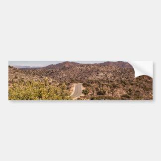 Joshua tree lonely desert road bumper sticker