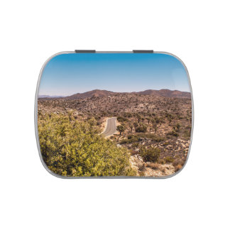 Joshua tree lonely desert road candy tins