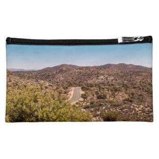 Joshua tree lonely desert road cosmetic bag