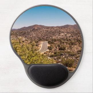 Joshua tree lonely desert road gel mouse pad