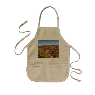 Joshua tree lonely desert road kids apron
