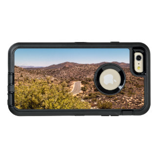 Joshua tree lonely desert road OtterBox defender iPhone case