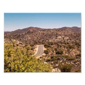 Joshua tree lonely desert road photo print