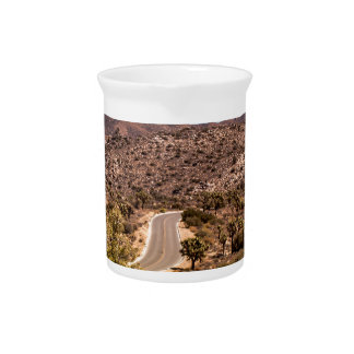 Joshua tree lonely desert road pitcher