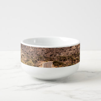 Joshua tree lonely desert road soup mug