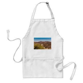 Joshua tree lonely desert road standard apron