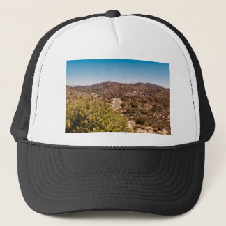 Joshua tree lonely desert road trucker hat