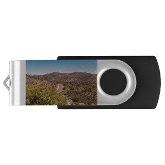 Joshua tree lonely desert road USB flash drive