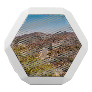 Joshua tree lonely desert road white bluetooth speaker