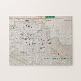 Joshua Tree map puzzle