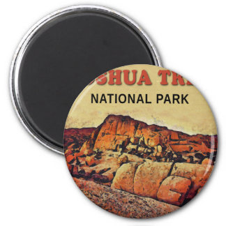 JOSHUA TREE National Park 6 Cm Round Magnet