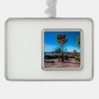 Joshua Tree National Park California Silver Plated Framed Ornament