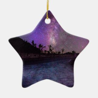 Joshua tree National Park milky way Ceramic Ornament