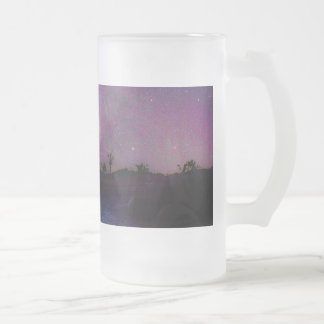 Joshua tree National Park milky way Frosted Glass Beer Mug