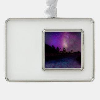 Joshua tree National Park milky way Silver Plated Framed Ornament