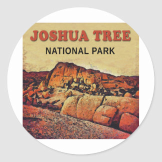 JOSHUA TREE National Park Round Sticker