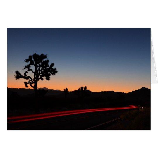 Joshua Tree Tail Lights Card