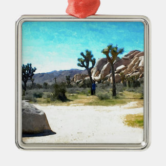 Joshua Trees and Rocks Metal Ornament