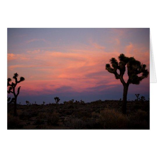 Joshua Trees at Sunset Card