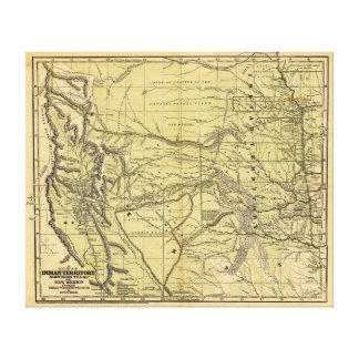 Josiah Gregg's 1844 Map of the Indian Territory Canvas Print
