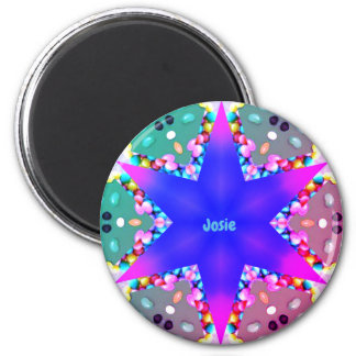 JOSIE ~ Personalized Easter Star Fractal ~ Magnet
