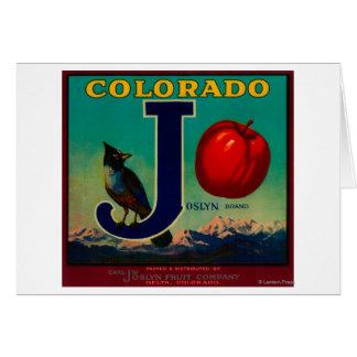 Joslyn Apple Crate Label Card
