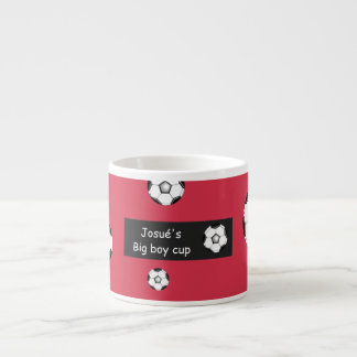 Josué's big boy soccer cup espresso mugs