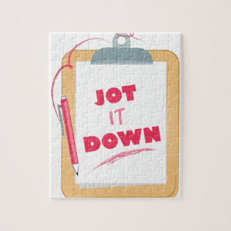 Jot It Down Puzzle