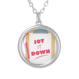 Jot It Down Silver Plated Necklace