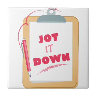 Jot It Down Small Square Tile