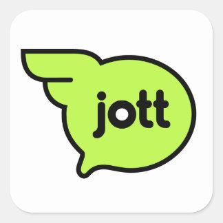 Jott icon glossy sticker