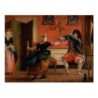 Jourdain Fences his Maid Postcard