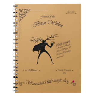 Journal of the Beast Within Spiral Note Book