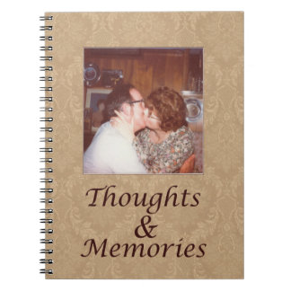 Journal with vintage photo, thoughts and memories