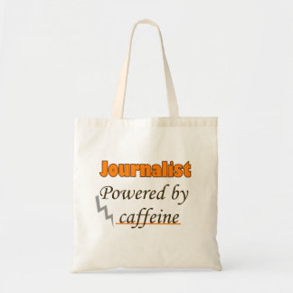Journalist Powered by caffeine Budget Tote Bag