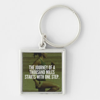 Journey Of A Thousand Miles - Workout Inspiration Key Ring