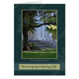 Journey of Life Godson Graduation Congratulations Card