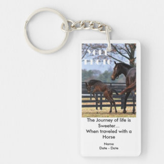 Journey Of Life (Horse) Pet Memorial Keychain