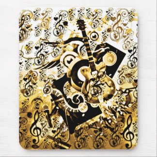 Journey Of Music,Rocks Gold_ Mouse Pad