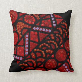 Journey Red Black Accent Pillow Cushion