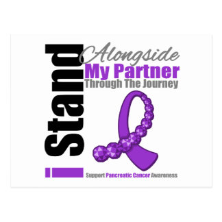 Journey Ribbon For Pancreatic Cancer (Partner) Postcard